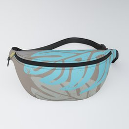 Hawaiian leaves pattern N0 2, Art Print collection, illustration original pop art graphic print Fanny Pack