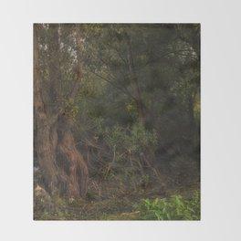 mystic willow Throw Blanket