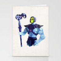 skeletor Stationery Cards featuring Polygon Heroes - Skeletor by PolygonHeroes