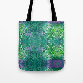 Green marble painting Tote Bag
