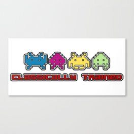 Classically Trained - 80s Video Games Canvas Print
