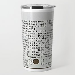 A typewriter and a library catalogue card 2 Travel Mug