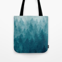 Misty Pine Forest Tote Bag