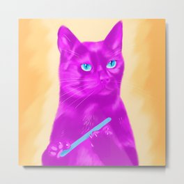 Pink Pussy Metal Print