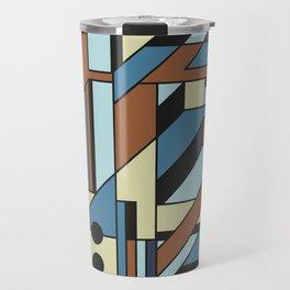 De Stijl Abstract Geometric Artwork 3 Travel Mug