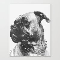 boxer Canvas Prints featuring Boxer by onlypencil