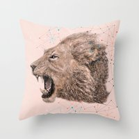 leo Throw Pillows featuring Leo by dogooder