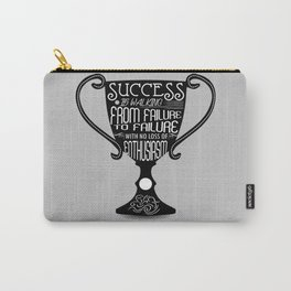 Success is walking from failure Winston Churchill Inspirational Quotes Carry-All Pouch