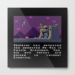 Super Skeletor World Metal Print