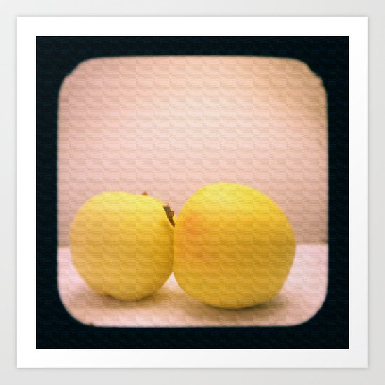 Apples with Texture TTV Art Print
