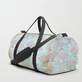 Spring Flowers - Cherry Blossom  Tree Pattern Duffle Bag