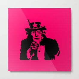 Neon Pink Uncle Trump Needs You Metal Print