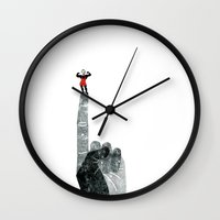 strong Wall Clocks featuring Strong by yael frankel