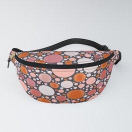 Heaven - Pink and Orange Polka Dots Fanny Pack
