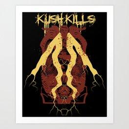 Kush Kills Phantoms Mirror Art Print