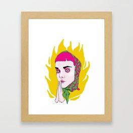 Holy fire Framed Art Print