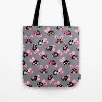 wrestling Tote Bags featuring Wrestling Academy pattern 04 by TokyoCandies