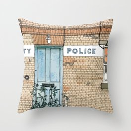 COUNTY POLICE Throw Pillow