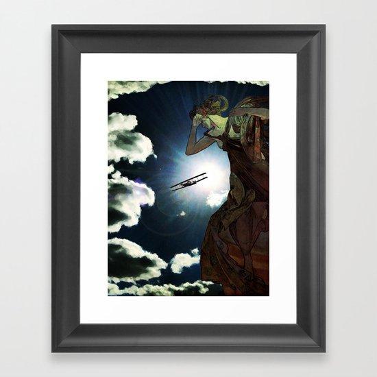 Blinded by the Lights Framed Art Print