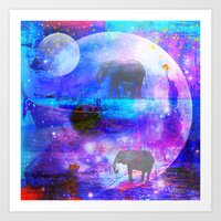 paradise Art Prints featuring paradise by haroulita