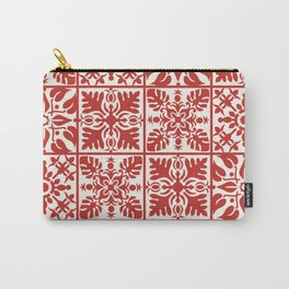 Hawaiian Quilt in Red Carry-All Pouch