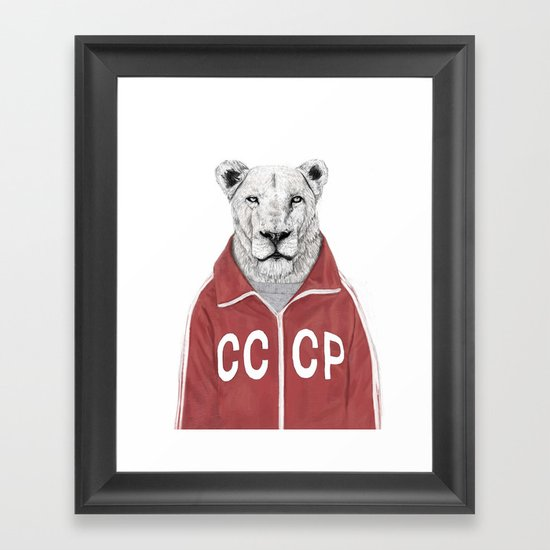 Soviet lion Framed Art Print