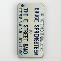 bruce springsteen iPhone & iPod Skins featuring Bruce Springsteen & the E Street Band: Rain or Shine by Christine Leanne
