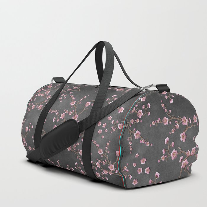 SAKURA LOVE - GRUNGE BLACK Duffle Bag