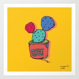 mickey cactus Art Print