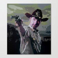 Rick Grimes Canvas Print