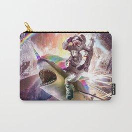 Galaxy Astronaut Cat Riding Rainbow Shark Unicorn Carry-All Pouch