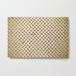 Diamond plate Metal Print