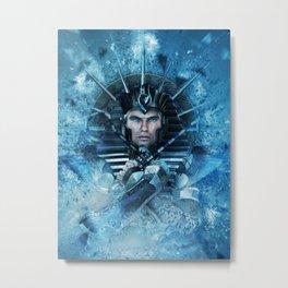 Blue Pharao Metal Print
