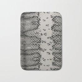 Snake Skin in Grey and Black Bath Mat