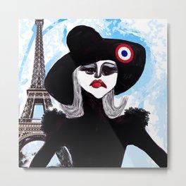 Je suis Paris Metal Print