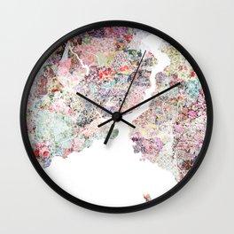 Istanbul map Wall Clock