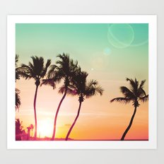 Tropical Palms II Art Print