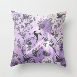 Wallflower (in Violet) Throw Pillow