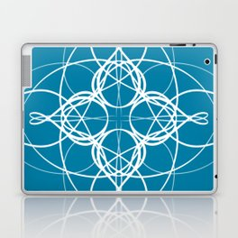 Blue White Swirl Laptop & iPad Skin