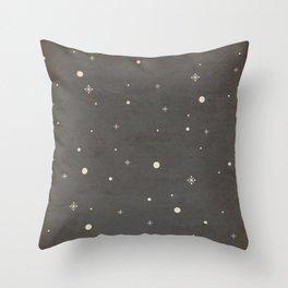 Vintage Star-Field Throw Pillow