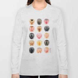 Vulva Diversity #2 Long Sleeve T-shirt