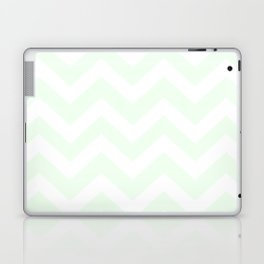 Honeydew - heavenly color - Zigzag Chevron Pattern Laptop & iPad Skin