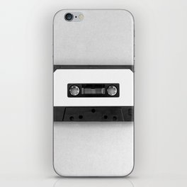 Music Tape (Black and White) iPhone Skin