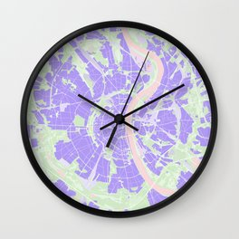 Cologne map violet Wall Clock