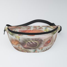 Funny shapes microcosm Fanny Pack
