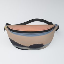 Peaceful Sunset Ship and Sea Fanny Pack