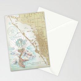 Anais Nin Vintage Mermaid Map Stationery Cards