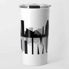 Baltimore Silhouette Skyline Travel Mug