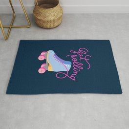 Get Rolling (Navy Background) Rug