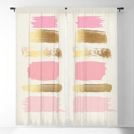 Brush Strokes (Rose/Gold) Blackout Curtain